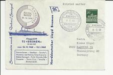 NDL Sonderumschlag SU027 Sylvesterkreuzfahrt 31.12.1968 (DS)