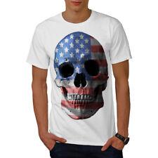 TESCHIO bandiera americana Usa Uomini T-shirt Nuove | wellcoda