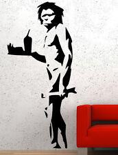 Banksy Graffiti 'Caveman' Art Wall Stickers Amazing Vinyl Decal! NEW 30cm x 60cm