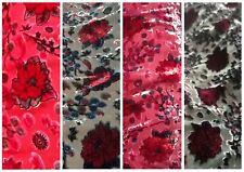 Floral print Devore/Burnout velvet dressmaking/craft fabric £8.50 per/metre