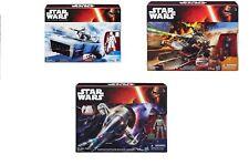 """STAR WARS slave 1,landspeeder, snowspeeder, all with 4"""" figures. multi choice uk"""