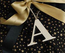 Letras De Madera, etiquetas de regalo, Alfabeto Etiquetas Colgantes Con rústico de bramantes, madera contrachapada de cartas