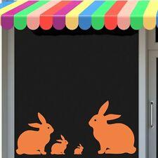 Rabbit STICKERS Vinyl qualsiasi colore finestra coniglio pasquale, muro, carta, LIBRO, auto, piastrelle
