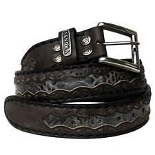 Sendra Leather Belt 8347 padded sewn handmade genuine python inlays original new