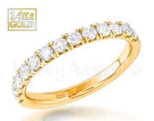 0.62ctw Diamond Eternity Band 14kt Yellow Gold Half Eternity Ring, Bridal Ring