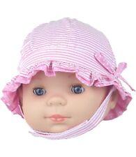 babyprem bebé niña Sol Sombrero Rosa Veraniego con correa Edad 0-3 & 3-6 meses