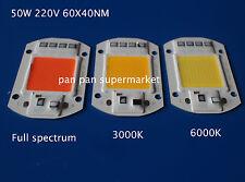 50W full spectrum 380-840nm white/warm LED COB Chip 110 220V Smart IC