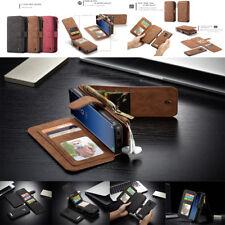 Detachable Flip Leather Wallet Zipper Case For Samsung S9/S9Plus S8 S7 S6 Note8
