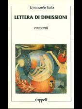 LETTERA DI DIMISSIONI  EMANUELE ITALIA CAPPELLI 1987