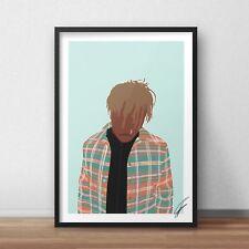 Juice Wrld INSPIRED WALL ART Print / Poster Minimal A4 A3 rap rapper emo rock