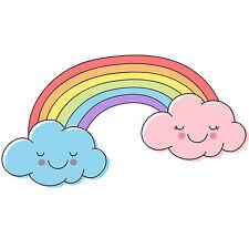 Childrens / Kids Bedroom Rainbow Wall Stickers (Girls Baby Art Flowers Sticker)