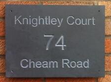 large slate house sign deep engraved carved name number plaque