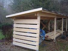 Holzhütte Holzunterstand Holzlagerhütte Holzüberdachung Brennholz Bauplan