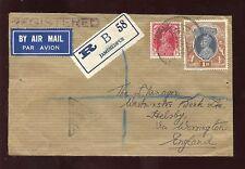 India 1941 regist.censor cubierta Imperial Banco jamshedpur