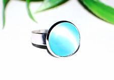 Silberfarbene Ringe +++ große Farbauswahl +++ Ø 14mm Cabochon +++ verstellbar ++