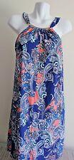 NWT Dotti Swimsuit Bikini Cover Up Dress Blue Multi W/Necklace Sz M,XL