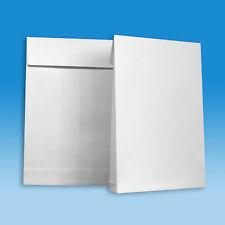 Versandtaschen B4 mit 40 mm Falte und Klotzboden - Faltentasche - Farbe weiß