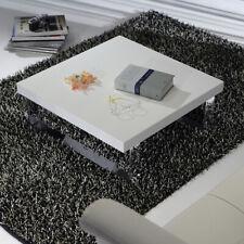 Tavolino Salotto Metropolis Square metallo cromato piano in laminato