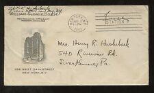 Pubblicità ILLUSTRATA BUSTA YMCA 1942 NY USA MILITARE concessione gratuita di Frank