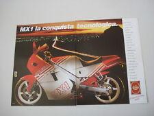 advertising Pubblicità 1988 MOTO GILERA MX 1 MX1 125