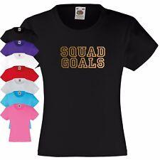 Squad OBJETIVOS Camiseta niña 3-13 años. Amistad GRUPO deporte Accomplish Nada