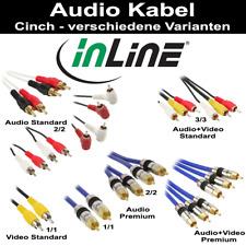 InLine Cinch Kabel Audio Video (Stecker/Stecker) in div. Längen u. Arten 0.5m -