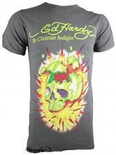ED HARDY By Audigier Herren T-Shirt *Exploding Skull* grau/schwarz *NEU*