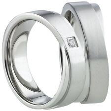 Ring Freundschaftsringe Partnerringe Verlobungsringe Titan Silber mit Gravur