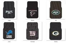 NFL Car Truck Front Rubber Floor Mats Set by NorthWest -Select- Team Below