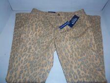 Chaps Women's Leopard Animal Print Denim Skinny Stretch Jeans Pants SIZES! NWT