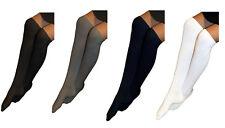 Girls Kids Plain Cotton School Knee High Socks 6-8, 9-12, 12-3.5, 4.6 Black Grey