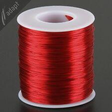 Magnet Wire, Enameled Copper, Red, 24 AWG (gauge), HPN, 155C, ~1 lb, 800 ft