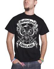 Motorhead T Shirt Warpig Crossed Swords England Crest Official Mens New Black