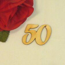 Geburtstag 50 Geschenk Hochzeit Jubiläum Deko aus Holz Tischdeko Streudeko