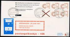 FDC Philato met postzegelboekje 43a met aanhangsel