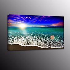 Beach Wave Modern Canvas Prints Landscape Canvas Painting Art Wall Home Decor