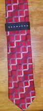Silk Neck Tie Sean John Dayton Grid Necktie Red or Blue Men New