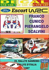 DECAL FORD ESCORT WRC MARTINI F. CUNICO R. SANREMO 1997 DnF (09)