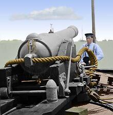 Confederate Teaser Balloon Navy Cannon Sailor Color Tinted photo Civil War 01053