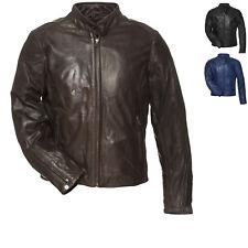 Black Notus Leather Vented Motorcycle Jacket Motorbike Casual Bike GhostBikes