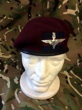 Household Division Airborne Maroon PARA Beret + Guards Flash PARA Airborne Badge