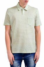 Malo Men's Striped Linen Short Sleeve Polo Shirt Size S M L XL 2XL