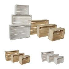 3er Set Dekokisten aus Holz Holzkiste Weinkiste Allzweckkiste Truhe Holzbox (3)