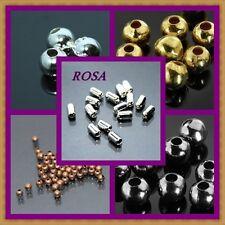 KM  Metallperlen Spacer Farbe Silber , Gold, Oxid, Kupfer