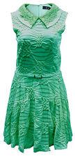 Lovedrobe Dress Textured Pattern Stripe Collar Belt  20  22  Green