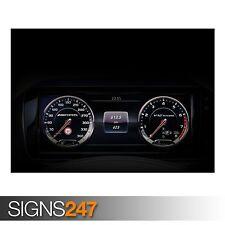 Mercedes S500 speedometre (AB513) Voiture AFFICHE-POSTER print ART A0 A1 A2 A3
