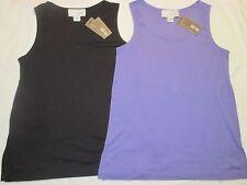 Womens JOAN VASS 100% Cotton TUNIC TANK Top JV405 Wisteria LAVENDER Purple 4 6 8