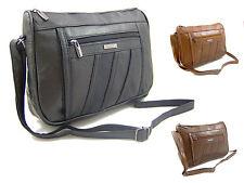 Ladies Leather Bag Organiser Handbag Shoulder Overbody Crossbody