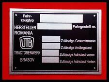 Typenschild // UTB UTOS Universal Traktor Schild Hinweisschild Ersatzteile Parts