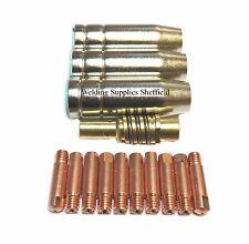 10x0.8mm MIG TIP + MB15 MIG NOZZLE SHROUD SEALEY SIP DRAPER CLARKE ESAB CEBORA